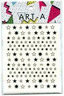 3D наклейка STARS #353-2 черные ART-A