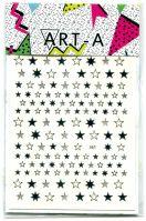 3D наклейка STARS #361-2 серебро ART-A