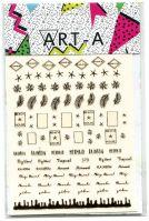 3D наклейка LETTERS #370 розовое золото ART-A