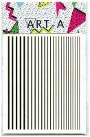3D наклейка STRIPES черные ART-A (полосы, гнутся)