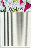 3D наклейка STRIPES серебро ART-A (полосы, гнутся)