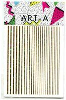 3D наклейка STRIPES золото голографик ART-A (полосы, гнутся)