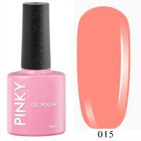 №015 Гель-лак PINKY Classic Тропический Коктейль 10мл. (лососево-розовый)