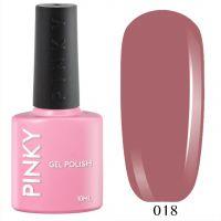 №018 Гель-лак PINKY Classic Сливочный Ирис 10мл. (розово-бежевый натуральный)
