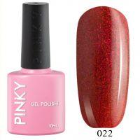 №022 Гель-лак PINKY Classic Голливуд 10мл. (ярко-оранжевый с красно-розовым микроблеском)