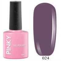 №024 Гель-лак PINKY Classic Вечерний Бал 10мл. (фиолетовый дымчатый)