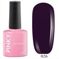 №026 Гель-лак PINKY Classic Пурпурный Дождь 10мл. (приглушенный фиолетовый)