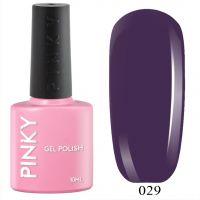 №029 Гель-лак PINKY Classic Баклажановый 10мл. (пыльный фиолетовый)