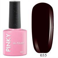 №035 Гель-лак PINKY Classic Чёрная Смородина 10мл. (черно-фиолетовый)