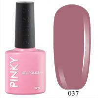 №037 Гель-лак PINKY Classic Французский Каштан 10мл. (бежево-розовый)