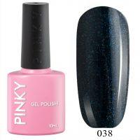№038 Гель-лак PINKY Classic Кассиопея 10мл. (темная морская волна с голографическим микрошиммером)