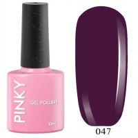 №047 Гель-лак PINKY Classic Валькирия 10мл. (бордовый)