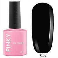 №052 Гель-лак PINKY Classic Чёрный 10мл. (черный)