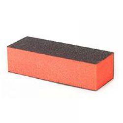 Блок для шлифовки ногтей черно-оранжевый 100/180/180