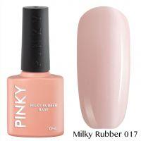 Каучуковая молочная база PINKY Milky Rubber Base 017 10мл. (нежно-розовый серебряным микрошиммером)