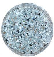 Пайетки зеркальные для дизайна для ногтей серебро