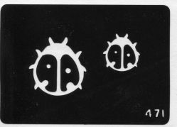 #471 Трафарет для татуажа
