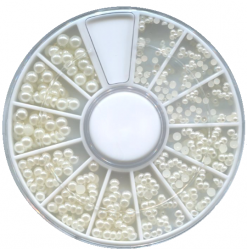 MZH-08-02 Жемчужины белые в карусельке